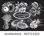 hand drawn set of plants and... | Shutterstock .eps vector #442711522