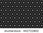 black and white ornament. r  | Shutterstock . vector #442722802