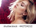 beauty fashion model girl... | Shutterstock . vector #442724212