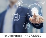 smart home interface with... | Shutterstock . vector #442733092