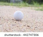 golf ball on the lawn   golf... | Shutterstock . vector #442747306