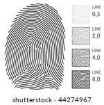 fingerprint vector lines. you... | Shutterstock .eps vector #44274967
