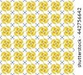 vector pattern batik modern... | Shutterstock .eps vector #442756642