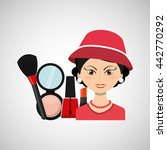 female makeup design  | Shutterstock .eps vector #442770292