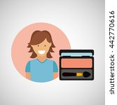 female makeup design  | Shutterstock .eps vector #442770616