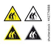 warning caution traffic sign... | Shutterstock .eps vector #442774888