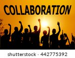 cooperate for successful work | Shutterstock . vector #442775392