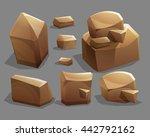 rocks and stones. cartoon...
