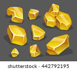 cartoon golden ore in isometric ...
