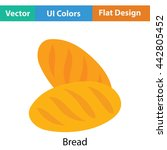 bread icon. flat color design....