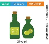 bottle of olive oil icon. flat...