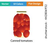 canned tomatoes icon. flat...