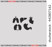 human organs set icon. | Shutterstock .eps vector #442807162