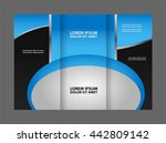 tri fold business brochure...   Shutterstock .eps vector #442809142