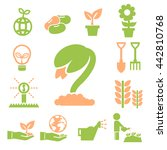 sprout icons set | Shutterstock .eps vector #442810768
