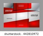 tri fold brochure design and... | Shutterstock .eps vector #442810972