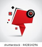 origami style empty promotional ... | Shutterstock .eps vector #442814296