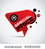 special price bubble with... | Shutterstock .eps vector #442814332