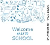 welcome back to school... | Shutterstock .eps vector #442818208