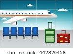 airport terminal. arrival... | Shutterstock .eps vector #442820458