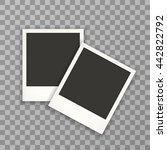 two photo frame retro isolated... | Shutterstock .eps vector #442822792