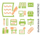 workplace icon set | Shutterstock .eps vector #442828762