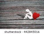 paper character of woman... | Shutterstock . vector #442845016