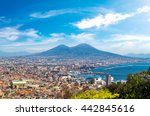 napoli  naples  and mount... | Shutterstock . vector #442845616