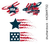 fourth of july independence day.... | Shutterstock .eps vector #442849732