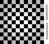 black and white chessboard ... | Shutterstock .eps vector #442853992