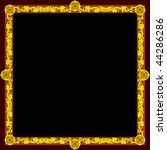 golden frame  square  | Shutterstock .eps vector #44286286