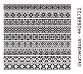 traditional ornamental borders... | Shutterstock .eps vector #442868722
