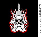 skull fire red | Shutterstock .eps vector #442874572