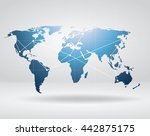 vector map of the world. | Shutterstock .eps vector #442875175
