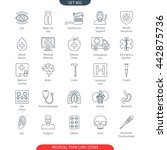 thin line icons set of medical... | Shutterstock .eps vector #442875736