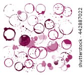 set of wine stains and... | Shutterstock .eps vector #442887022