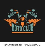 vector motorcycle club emblem... | Shutterstock .eps vector #442888972