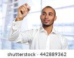 happy successful businessman... | Shutterstock . vector #442889362