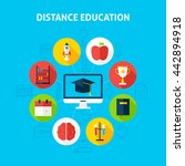 distance education infographic... | Shutterstock .eps vector #442894918
