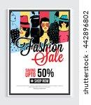 fashion sale poster  sale... | Shutterstock .eps vector #442896802
