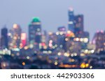 abstract blurred lights city... | Shutterstock . vector #442903306