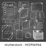 set of hand drawn paper notes... | Shutterstock .eps vector #442906966