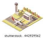 vector isometric infographic... | Shutterstock .eps vector #442929562