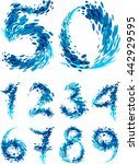 numbers set splash | Shutterstock .eps vector #442929595