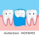 sensitive teeth. cute cartoon...   Shutterstock .eps vector #442930492