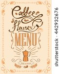 hand drawn vector elements for... | Shutterstock .eps vector #442932676