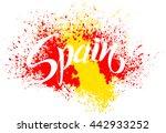 hand written spain. vector... | Shutterstock .eps vector #442933252