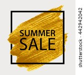 summer sale. gold paint in... | Shutterstock .eps vector #442942042