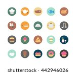 cooking icons color flat icon... | Shutterstock .eps vector #442946026