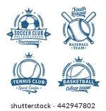 retro styled sport team logo.... | Shutterstock .eps vector #442947802